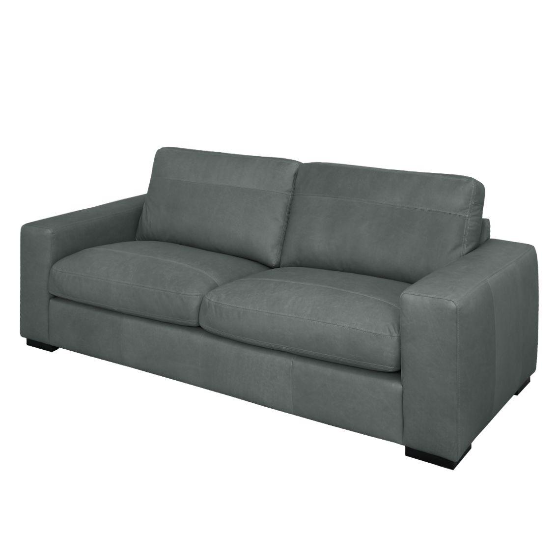 sofa riton 3 sitzer echtleder anthrazit nuovoform. Black Bedroom Furniture Sets. Home Design Ideas