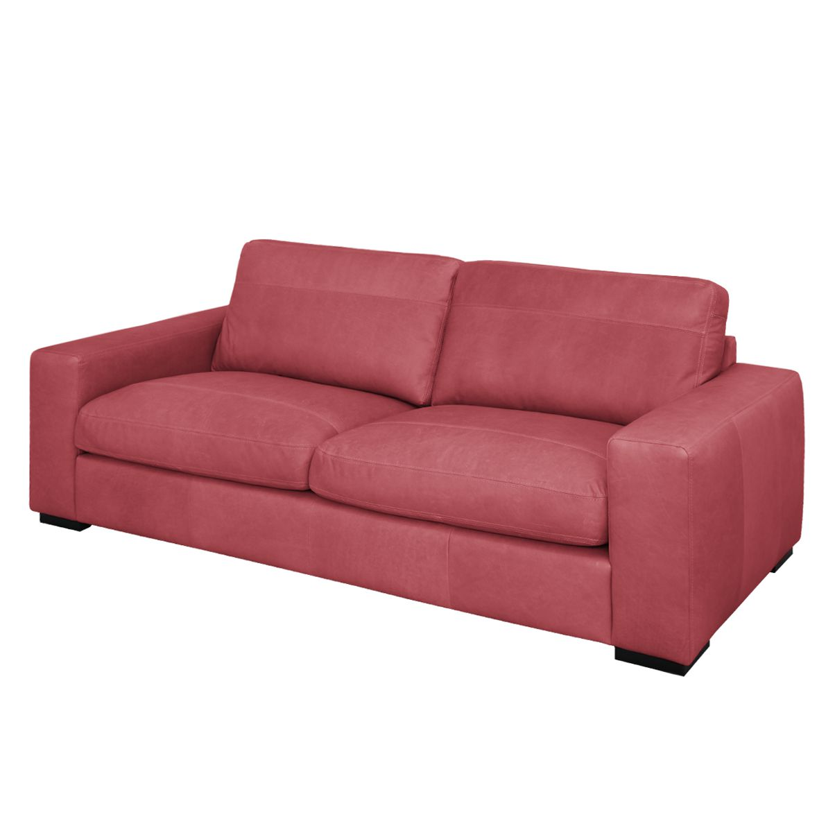 sofa riton 3 sitzer echtleder rot nuovoform. Black Bedroom Furniture Sets. Home Design Ideas