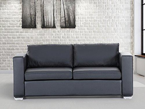 sofa schwarz couch ledersofa ledercouch lounge echtleder 3 sitzer helsinki moebel24. Black Bedroom Furniture Sets. Home Design Ideas