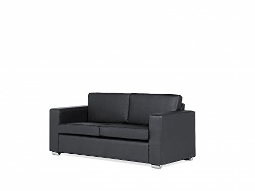 sofa schwarz couch ledersofa ledercouch lounge echtleder 3 sitzer helsinki. Black Bedroom Furniture Sets. Home Design Ideas