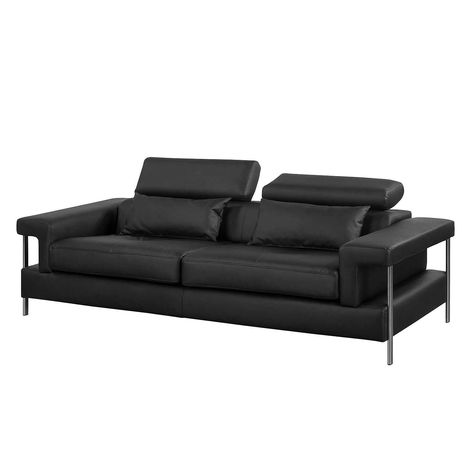 sofa skibsby 3 sitzer kunstleder schwarz roomscape. Black Bedroom Furniture Sets. Home Design Ideas