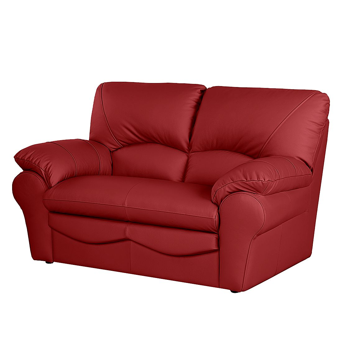 sofa torsby 2 sitzer echtleder rot nuovoform. Black Bedroom Furniture Sets. Home Design Ideas