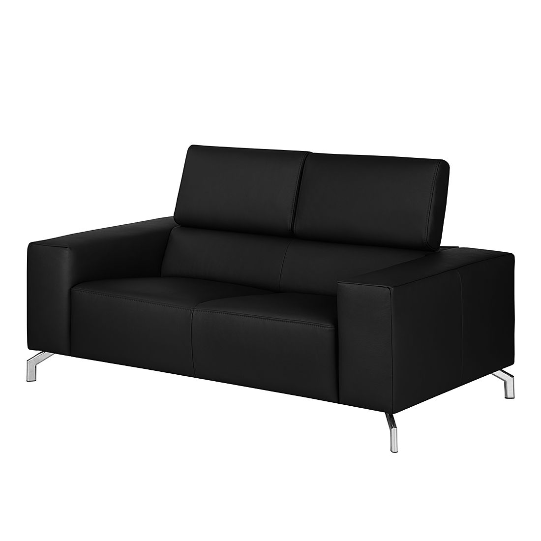 sofa varberg 2 sitzer echtleder schwarz fredriks. Black Bedroom Furniture Sets. Home Design Ideas