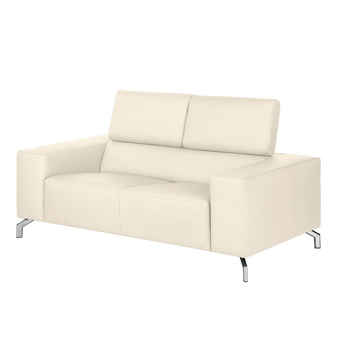sofa varberg 2 sitzer echtleder wei fredriks. Black Bedroom Furniture Sets. Home Design Ideas