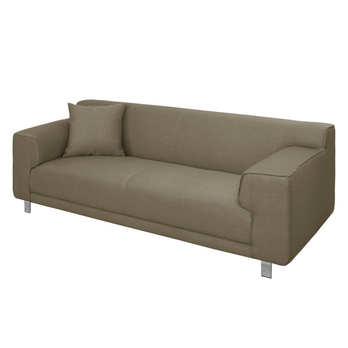 sofa zaran 3 sitzer webstoff hellbraun nuovoform. Black Bedroom Furniture Sets. Home Design Ideas