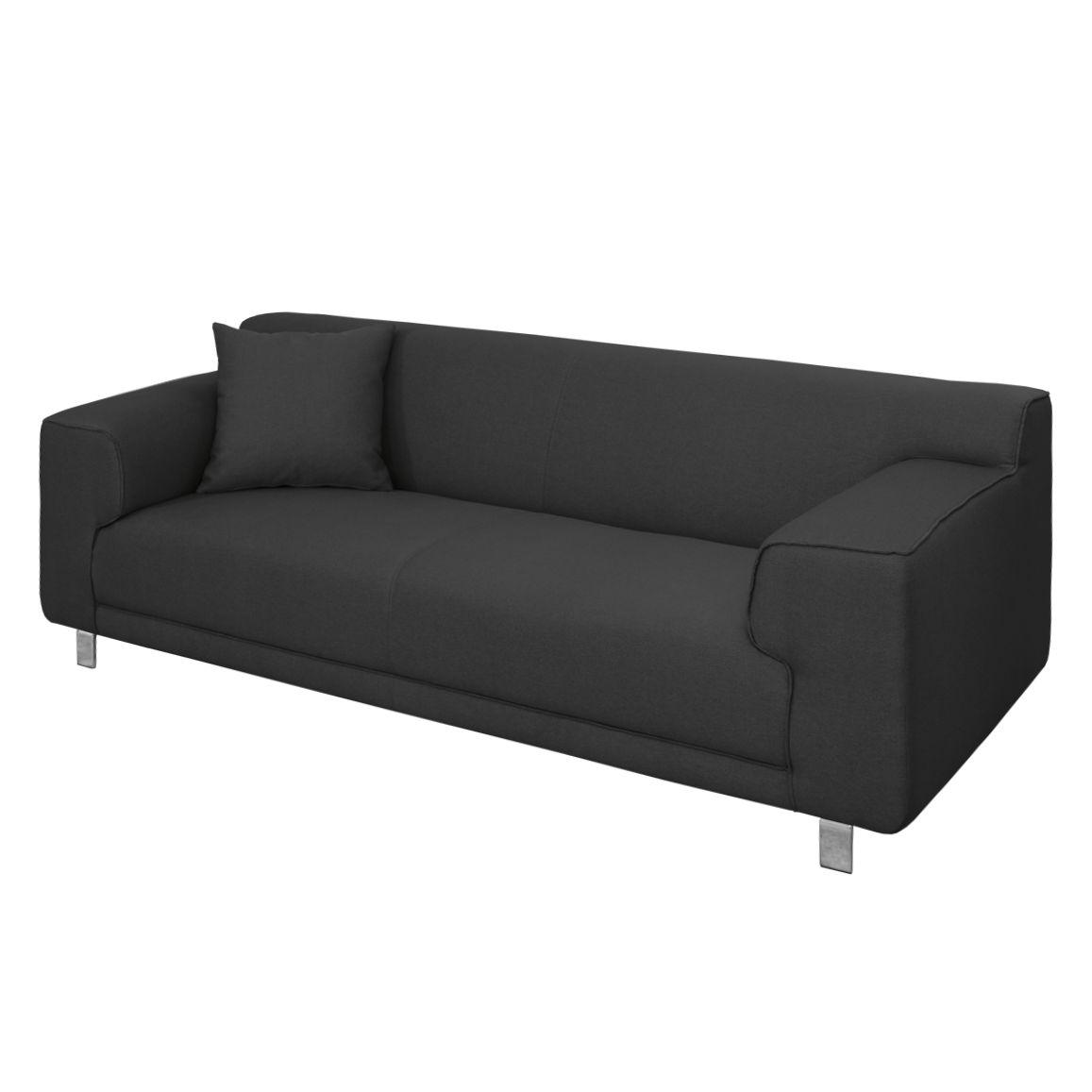 sofa zaran 3 sitzer webstoff schwarz nuovoform. Black Bedroom Furniture Sets. Home Design Ideas