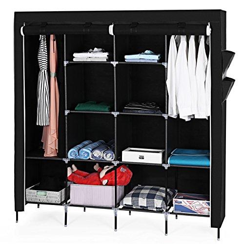 songmics xxxl deluxe h he 180 cm kleiderschrank hochf en. Black Bedroom Furniture Sets. Home Design Ideas
