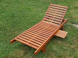 Sonnenliege Gartenliege Strandliege Liegestuhl Holzliege Holz Eukalyptus Hartholz wie Teak SABALO von AS-S -