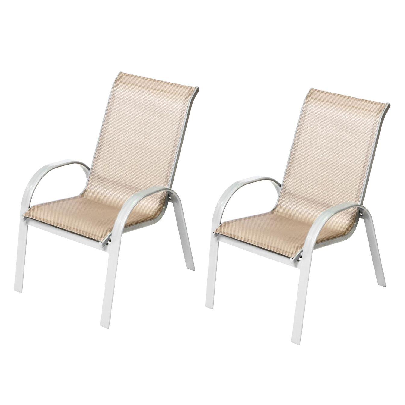 stapelsessel amalfi i 2er set aluminium textilene. Black Bedroom Furniture Sets. Home Design Ideas