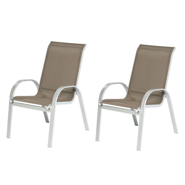 stapelsessel amalfi iv 2er set aluminium textilene. Black Bedroom Furniture Sets. Home Design Ideas