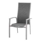 Stapelsessel Larino - Aluminium/Ergotex - Taupe, Best Freizeitmöbel