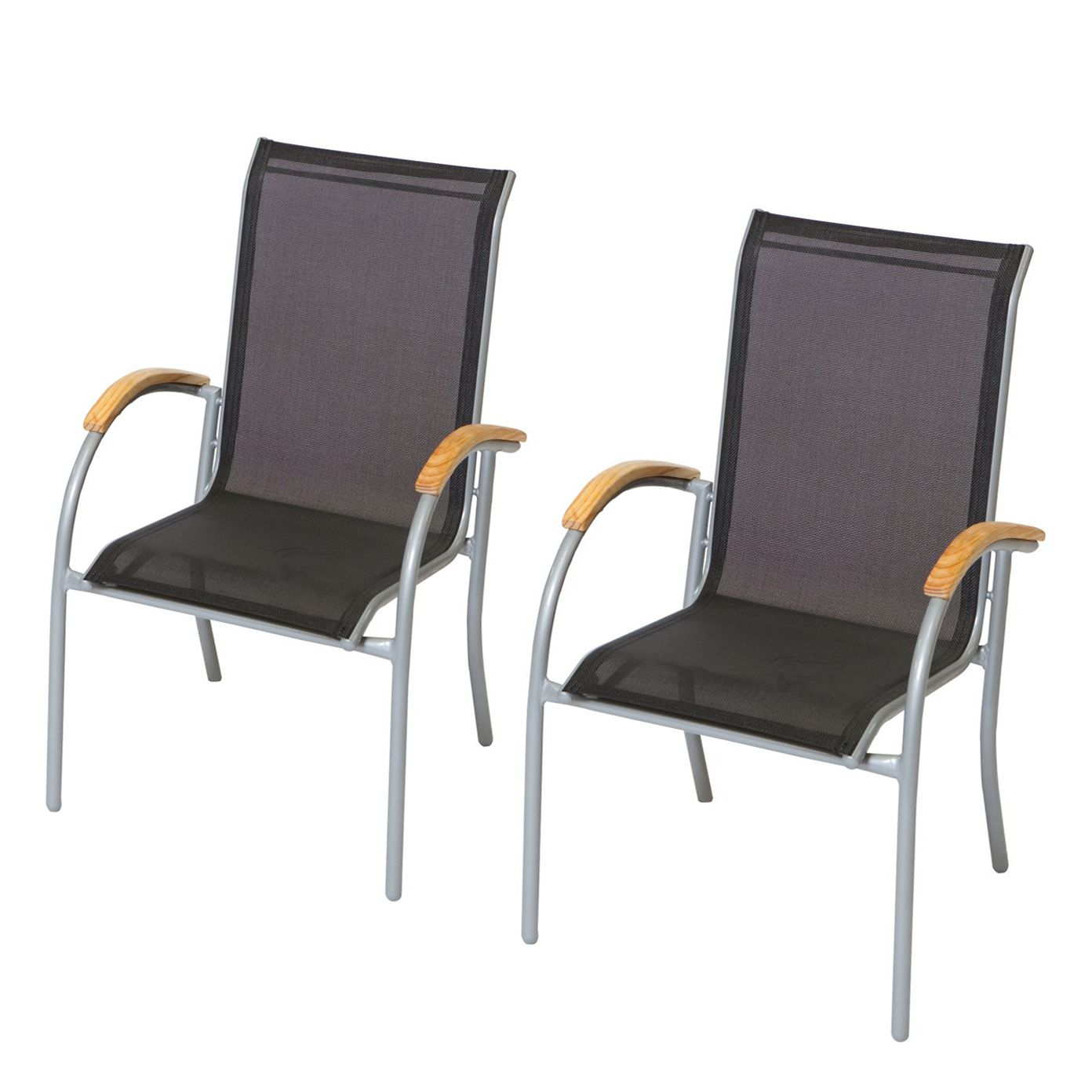 stapelsessel siena 2er set aluminium textilene. Black Bedroom Furniture Sets. Home Design Ideas
