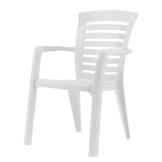 Stapelstuhl Florida - Kunststoff - Weiß, Best Freizeitmöbel