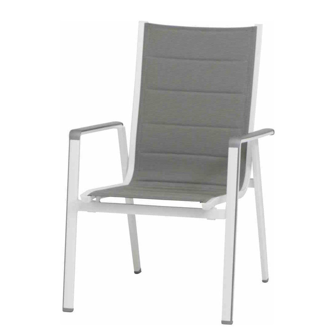 stapelstuhl futosa kunstfaser aluminium grau mwh. Black Bedroom Furniture Sets. Home Design Ideas