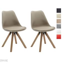 Stuhl Esszimmerstühle Küchenstühle !2 er Set! in CAPPUCCINO Küchenstuhl Holzbeine Sitzkissen TYP9-518M Esszimmerstuhl RETRO Küchenstuhl Farbauswahl -