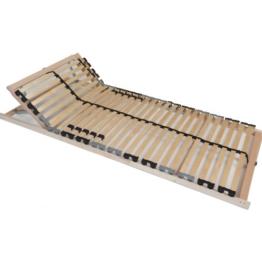 TAURO 22914 7-Zonen Lattenrost 90x200 cm | Geeignet für alle Matratzen | Kopfteil verstellbar | Komfort Lattenrost mit 28 Leisten -