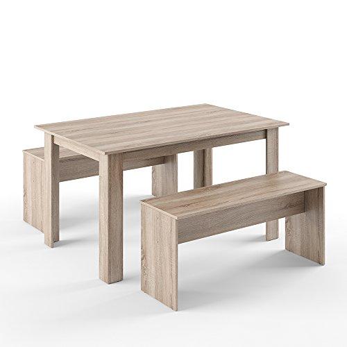 tischgruppe eiche sonoma 140 x 90 cm 4 bis 6 personen. Black Bedroom Furniture Sets. Home Design Ideas