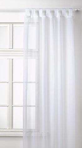 Transparente einfarbige Gardine aus Voile, viele attraktive Farben, 245x140, Weiß, 61000 -
