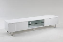 Tv Lowboard Fernsehtisch Fernsehschrank Hifi Rack Tv Board Hochglanz Weiß Weiss 180cm -