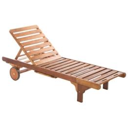 Ultranatura Gartenmöbel - Basics Sonnenliege aus Hartholz, braun -