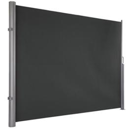Ultranatura Maui Seitenmarkise, grau, 300 x 180 cm -