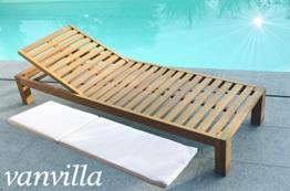 vanvilla Sonnenliege Gartenliege Holz Relaxliege Liegestuhl BALIMO -