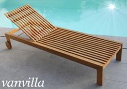 vanvilla Sonnenliege Gartenliege Holz Relaxliege Liegestuhl SOLANO -