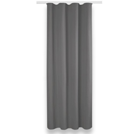 Verdunklungsgardine mit Universalband und Ösen Aufhängung, modernes Wohnaccessoire bietet hervorragenden Blendschutz und ist in vielen verschiedenen Farben erhältlich (Universalband/grau - silbergrau/135x245 cm) -