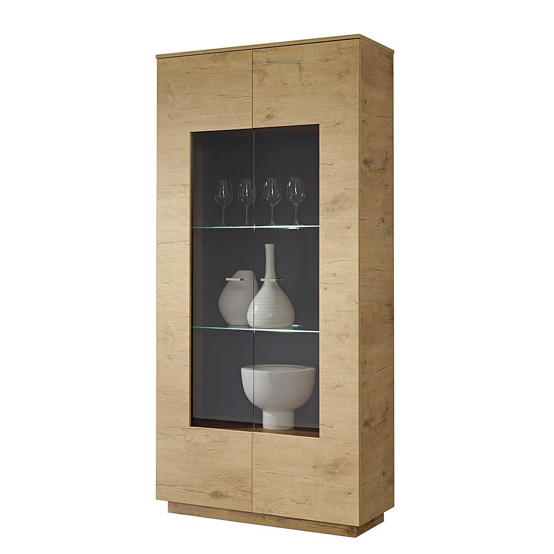 vitrine br gge wildeiche dekor absetzung hochglanz terra. Black Bedroom Furniture Sets. Home Design Ideas
