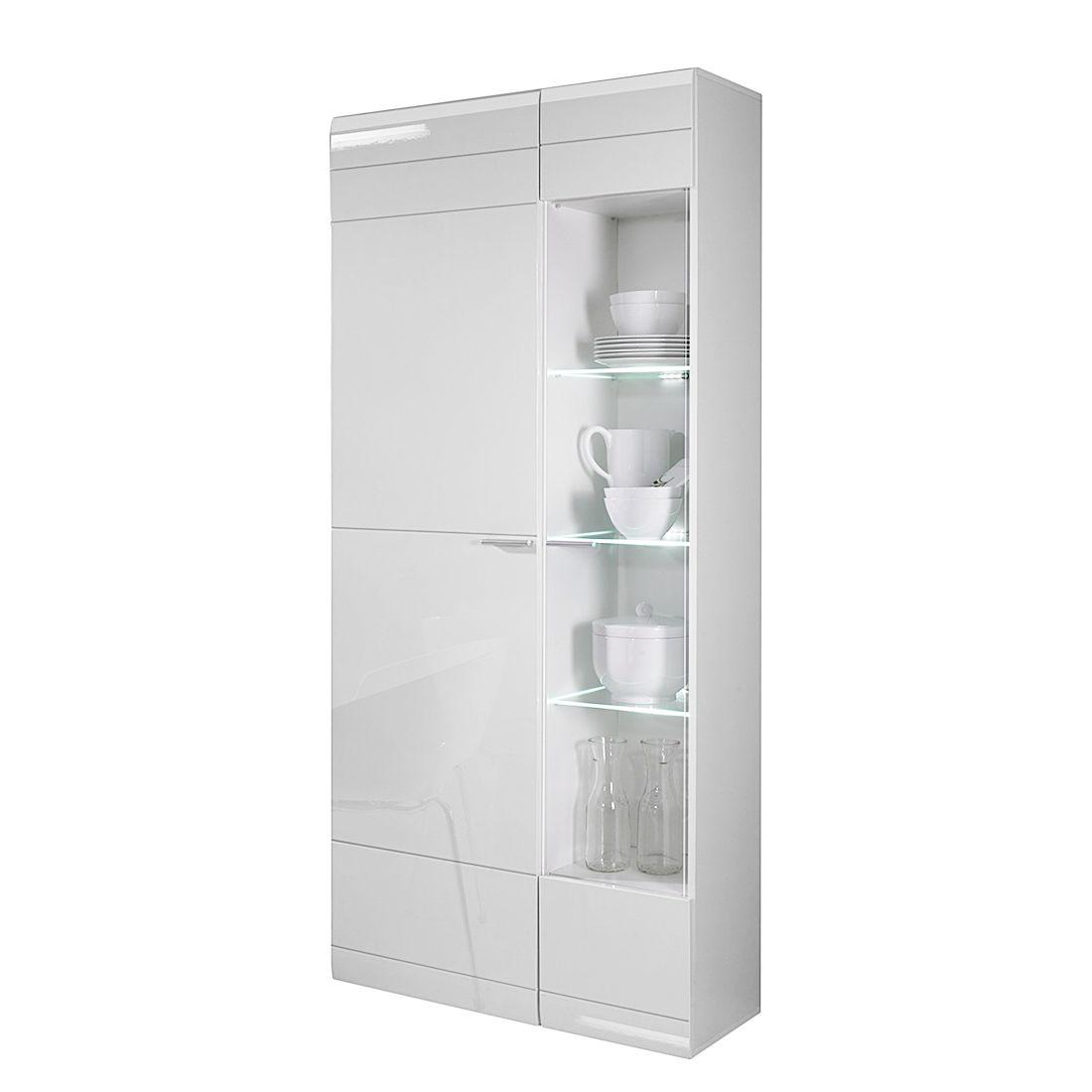 vitrine carero hochglanz wei t ranschlag links fredriks m bel24. Black Bedroom Furniture Sets. Home Design Ideas