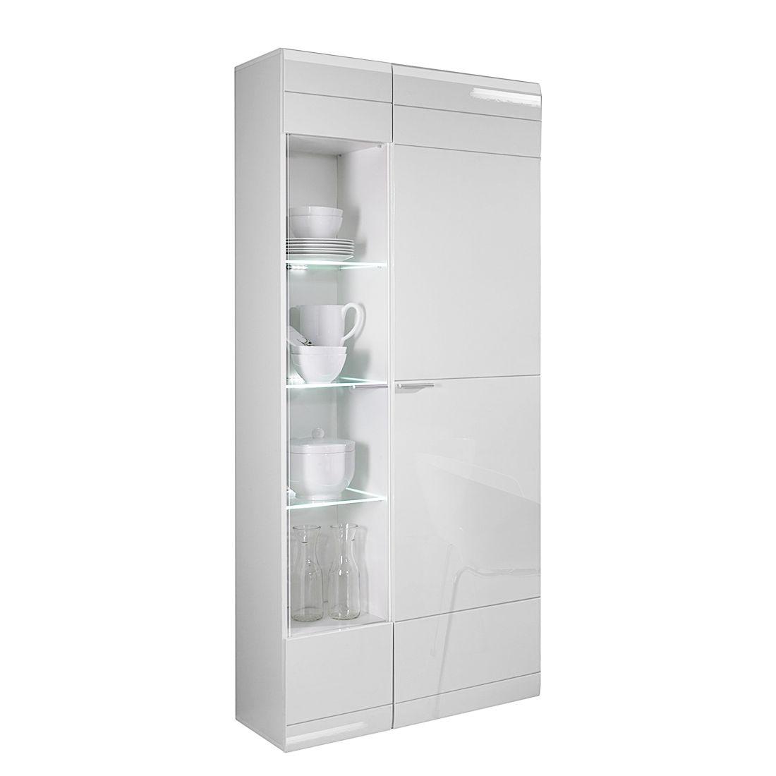 vitrine carero hochglanz wei t ranschlag rechts fredriks. Black Bedroom Furniture Sets. Home Design Ideas