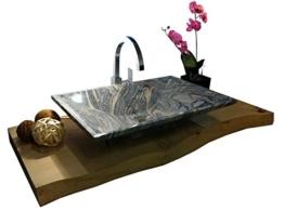 Waschbecken aus Naturstein, Granit, Model Havanna, Juparana, 60x40cm -