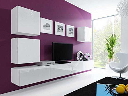 wohnwand 39 vigo 22 39 hochglanz h ngeschrank lowboard cube. Black Bedroom Furniture Sets. Home Design Ideas