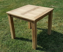 Wuchtiger TEAK BIGFOOT Gartentisch 80x80 Holztisch Teaktisch Garten Tisch Holz von AS-S -