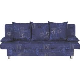 CARRYHOME SCHLAFSOFA Webstoff Blau