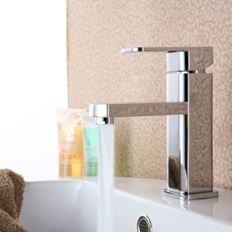 AllRight Badarmatur Wasserhahn Waschtischarmatur Einhandmischer hoch Bad Küche Armatur -