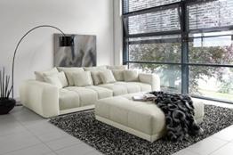 Außergewöhnliches XXL Sofa Big SAM in Trendfarbe Greige -