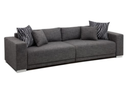 B-famous Big Sofa London-XXL Struktur grau, 287x103 cm, -