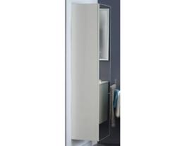 Badschrank Lysann 6, weiss Hochglanz lackiert, 40x162x36cm, Schrank
