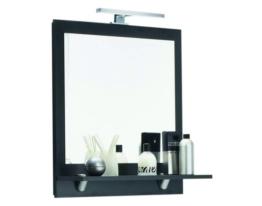 Badspiegel Badezimmer Wandspiegel Kosmetik Lichtspiegel LED Posseik anthrazit