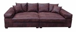 Big Sofa Couch Garnitur XXL Megasofa Riesensofa Wohnlandschaft Ultrasofa braun -