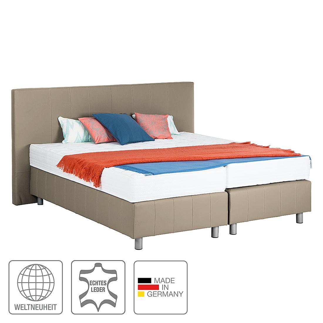 boxspringbett atlanta echtleder ohne topper 200 x 200cm h2 bis 80 kg schlamm breckle. Black Bedroom Furniture Sets. Home Design Ideas