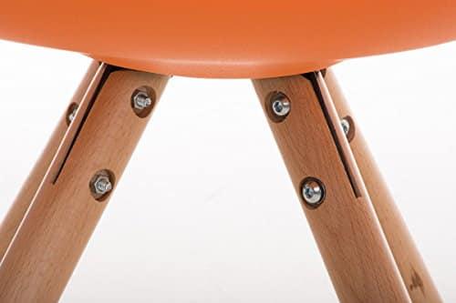 Clp design retro stuhl pegleg schalenstuhl sitzh he 46 for Schalenstuhl gepolstert