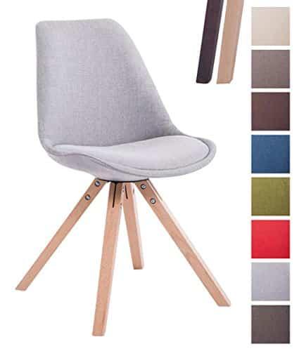 Clp design retro stuhl toulouse square stoffbezug for Retro stuhl grau
