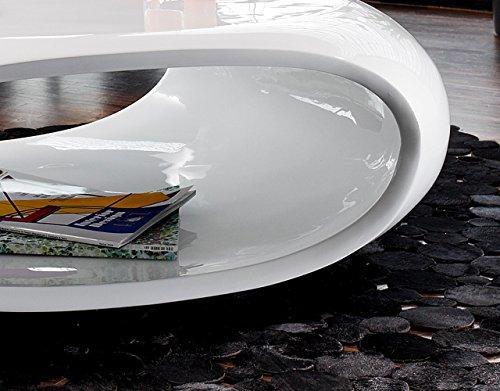 couch tisch hochglanz wei oval 100x70 cm aus fiberglas ofu moderner wohnzimmer tisch in. Black Bedroom Furniture Sets. Home Design Ideas