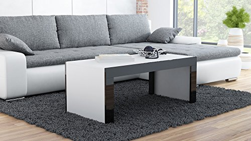 couchtisch wohnzimmertisch coffe table tess wei matt schwarz hochglanz m bel24 online. Black Bedroom Furniture Sets. Home Design Ideas