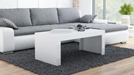 Couchtisch Wohnzimmertisch Coffe table TESS (weiß matt / weiß hochglanz) -