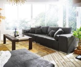 DELIFE Big-Sofa Marbeya 285x115 cm Anthrazit Antik Optik Kissen, Big Sofas
