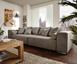 DELIFE Big-Sofa Marbeya 290x110 cm Hellgrau mit Schlaffunktion, Big Sofas