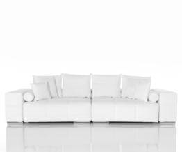 DELIFE Big-Sofa Marbeya Weiss 285x115 cm Wohnlandschaft, Big Sofas